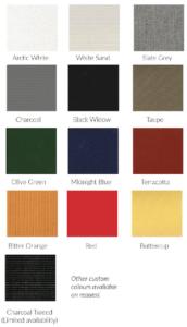Umbrella Fabric Colours